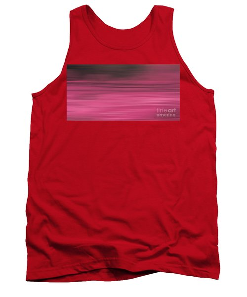 Abstract Earth Motion Aubergine Tank Top by Linsey Williams