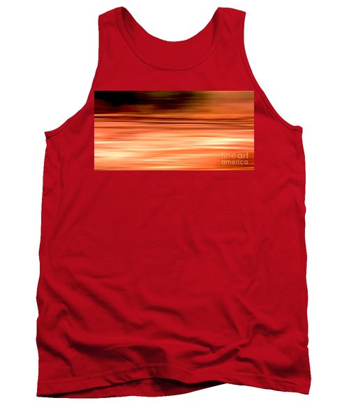 Abstract Earth Motion Burnt Orange Tank Top by Linsey Williams