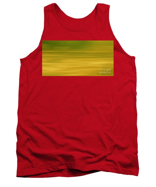 Abstract Earth Motion Lemon Grass Tank Top by Linsey Williams