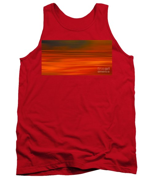 Abstract Earth Motion Sun Burnt Tank Top by Linsey Williams