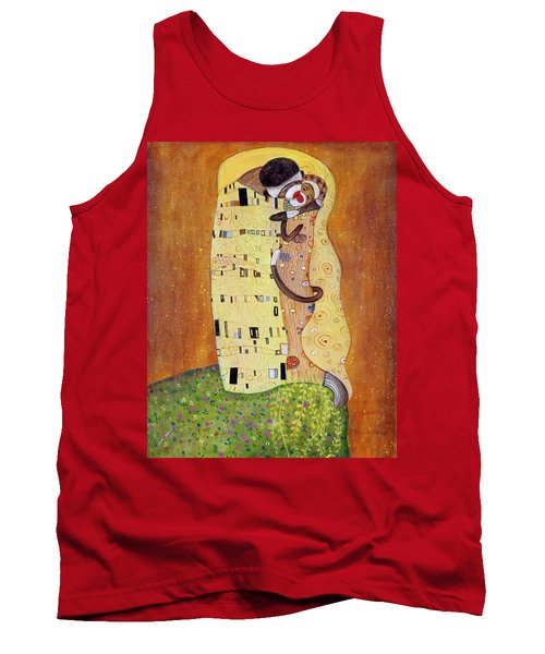 Tank Top featuring the painting The Smooch by Randol Burns
