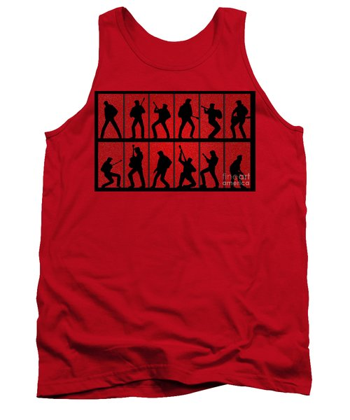 Elvis Silhouettes Comeback Special 1968 Tank Top