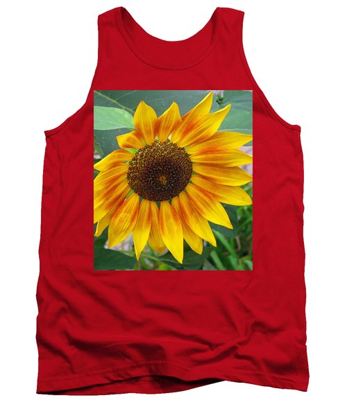 Tank Top featuring the photograph End Of Summer Sunflower by Barbara McDevitt