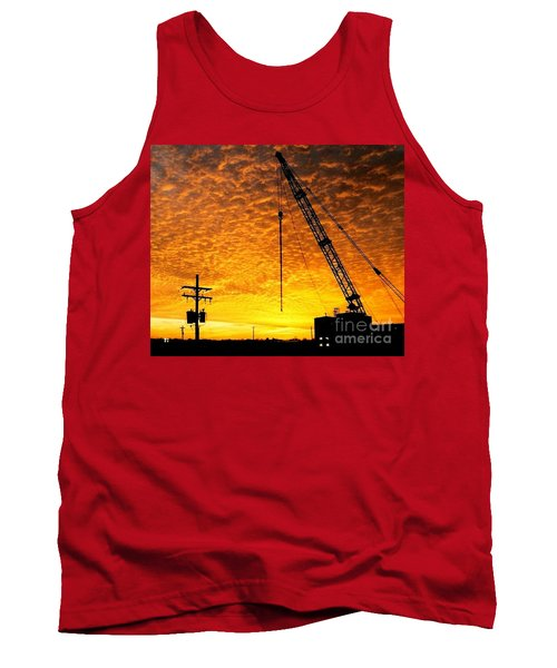 Erecting A Sunset In Beaumont Texas Tank Top