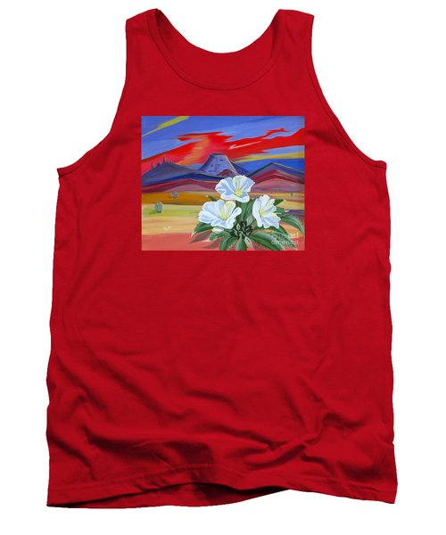 Tank Top featuring the painting Evening Primrose by Phyllis Kaltenbach