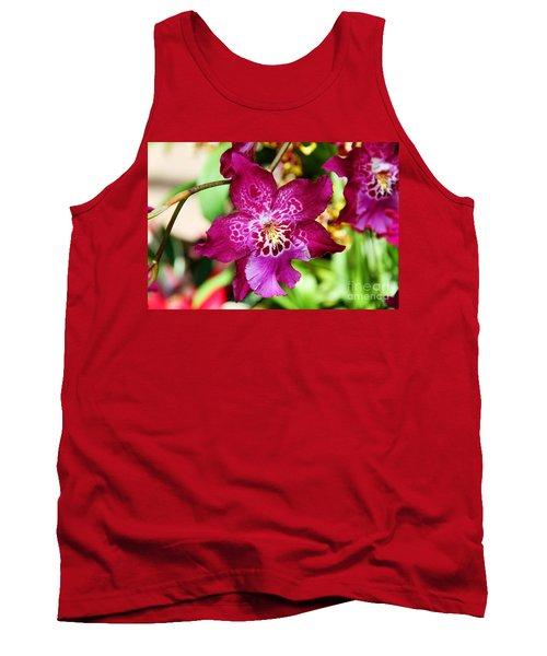 Fabulous Fushia Orchids By Diana Sainz Tank Top