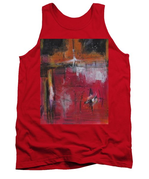 Tank Top featuring the painting Fall by Nicole Nadeau