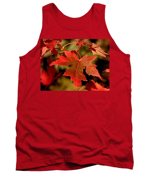 Fall Red Beauty Tank Top