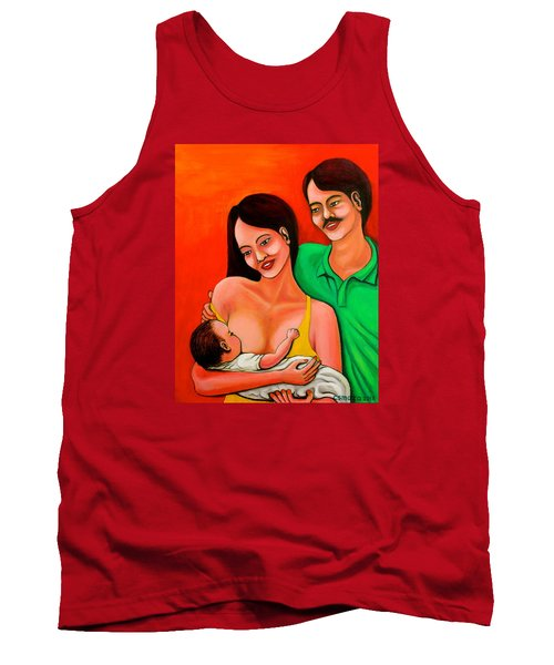 Tank Top featuring the painting Family by Cyril Maza