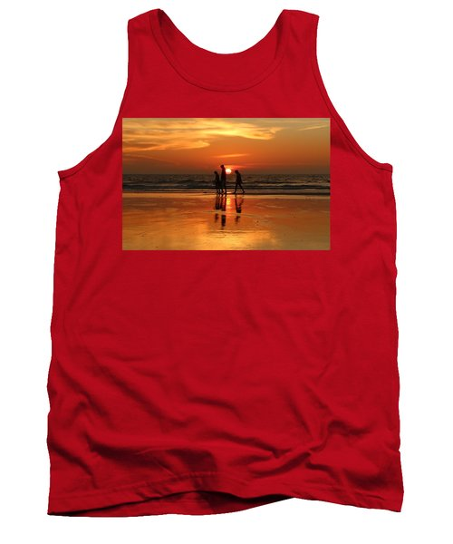 Family Reflections At Sunset - 1 Tank Top