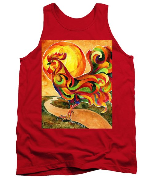 Fancy Feathers Rooster Tank Top by Sherry Shipley