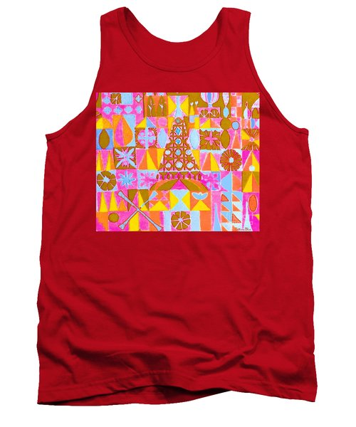 Tank Top featuring the painting Fantasy In Form by Beth Saffer