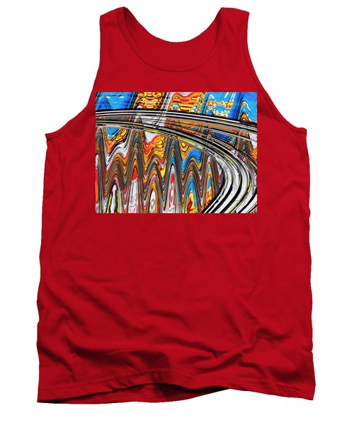 Tank Top featuring the digital art Highway To Nowhere Abstract by Gabriella Weninger - David