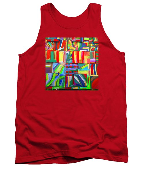 Tank Top featuring the painting Feast Of Minis 03 by Mudiama Kammoh