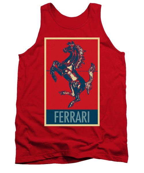 Ferrari Stallion In Hope Tank Top