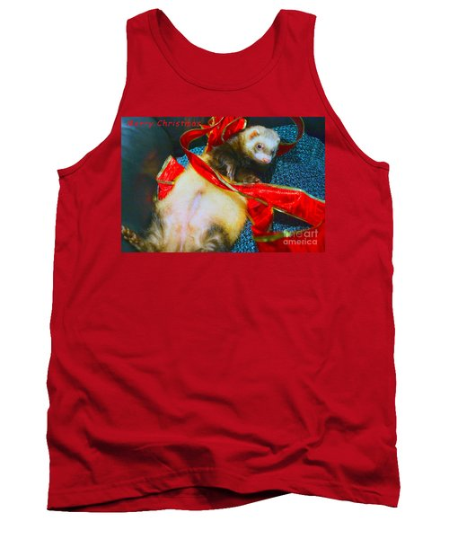 Tank Top featuring the photograph Ferrety Christmas IIi by Cassandra Buckley