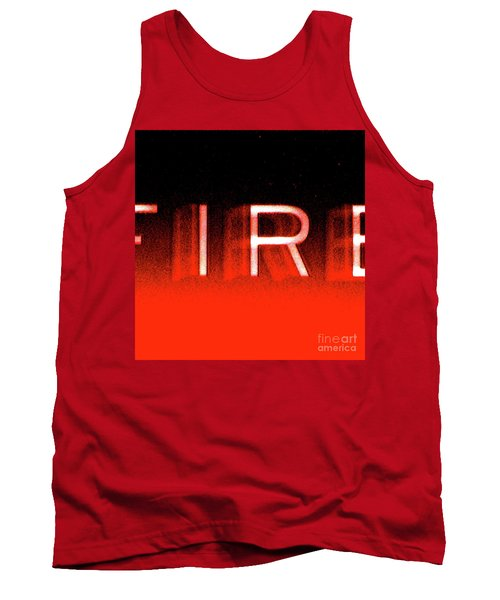 Fire Tank Top by CML Brown
