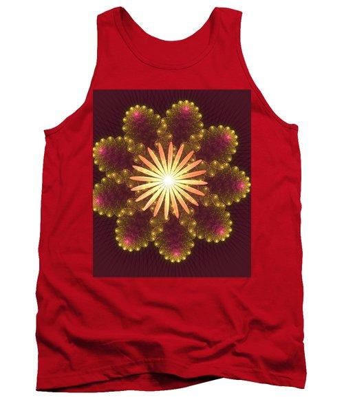 Fire Flower Mandala Tank Top