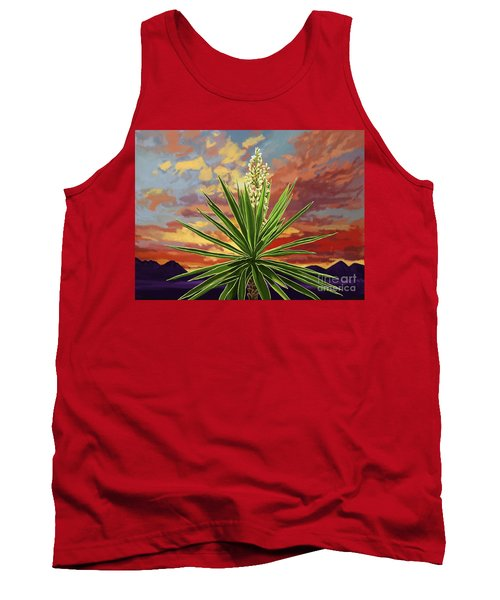 Fire Sky Desert Blooming Yucca Tank Top
