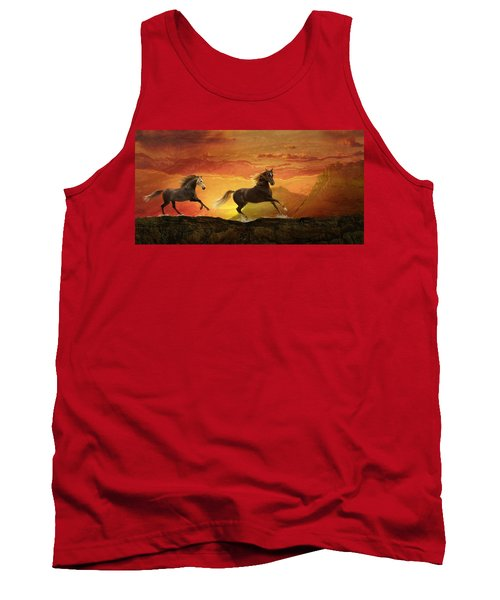 Fire Sky Tank Top by Melinda Hughes-Berland