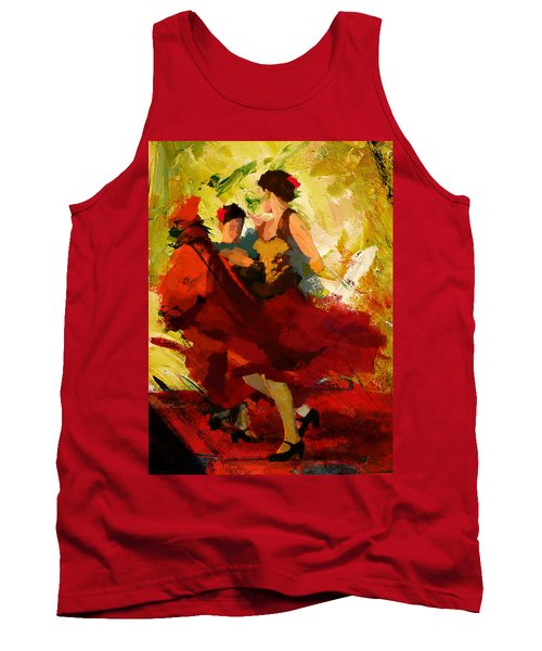 Flamenco Dancer 019 Tank Top by Catf