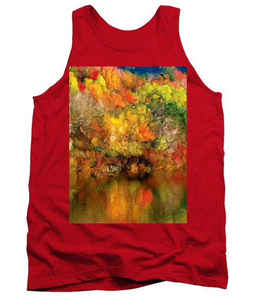 Flaming Autumn Abstract Tank Top