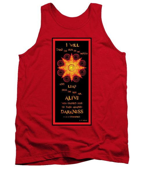 Flaming Celtic Sun Tank Top