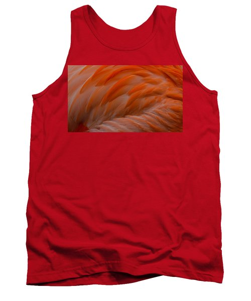 Flamingo Feathers Tank Top by Michael Hubley