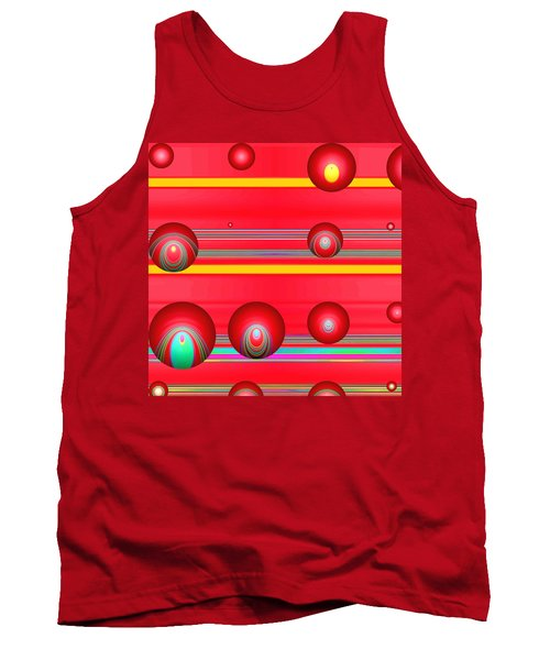 Flotation Devices - Lipstick Tank Top by Wendy J St Christopher