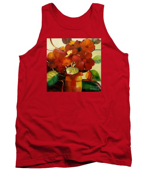 Tank Top featuring the painting Flower Vase No. 3 by Michelle Abrams