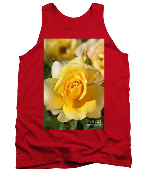 Flower-yellow Rose-delight Tank Top
