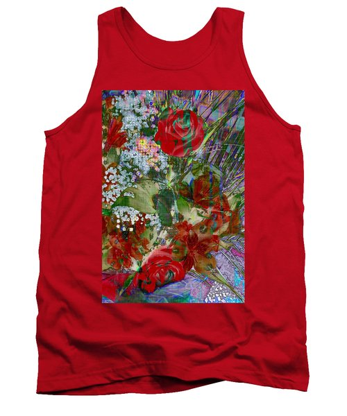 Tank Top featuring the digital art Flowers In Bloom by Liane Wright