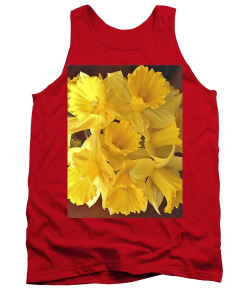 Tank Top featuring the photograph Flurry Of Daffodils by Diane Alexander
