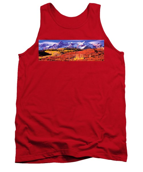 Forest In Autumn With Snow Covered Tank Top