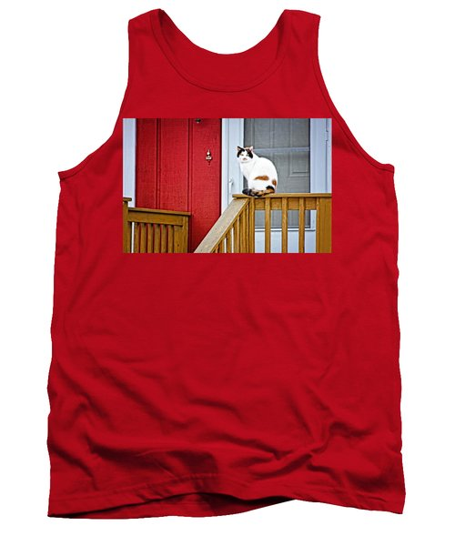 Front Porch Cat Tank Top