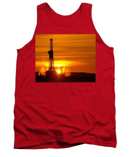 Frontier Nineteen Xto Energy Culbertson Montana Tank Top by Jeff Swan