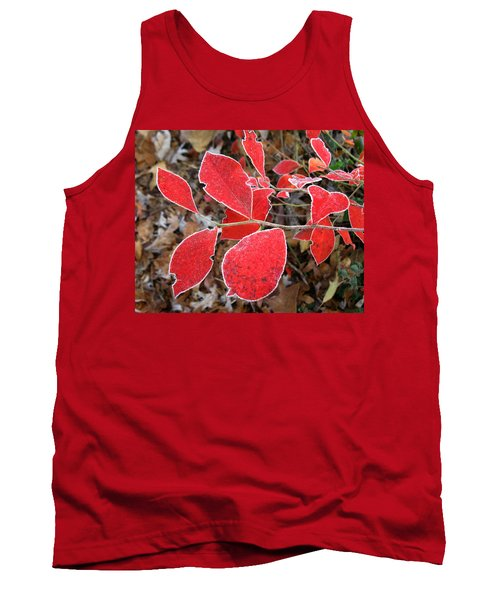 Frosted Blueberry Leaves Tank Top