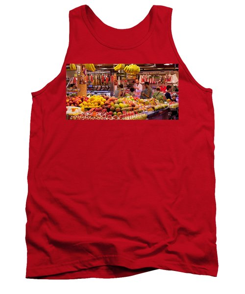 Fruits At Market Stalls, La Boqueria Tank Top by Panoramic Images