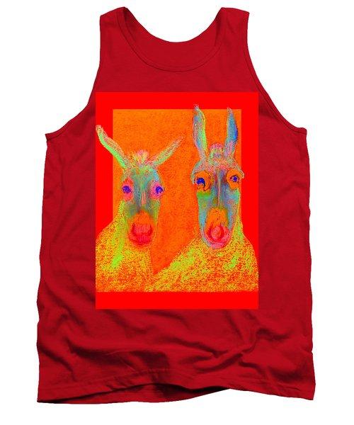 Funky Donkeys Art Prints Tank Top