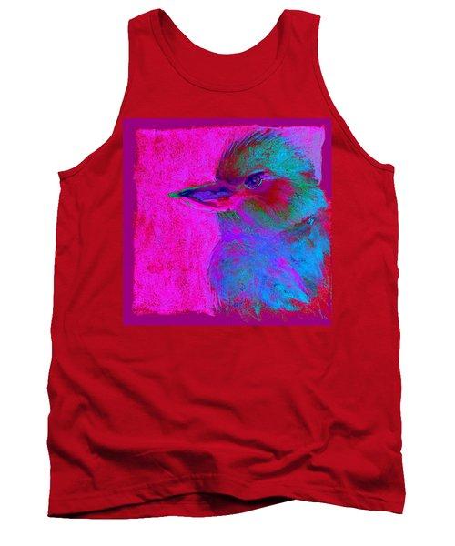 Funky Kookaburra Australian Bird Art Prints Tank Top