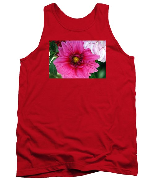 Tank Top featuring the photograph Fushia Pink Dahlia by Lehua Pekelo-Stearns