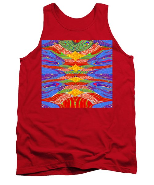 Galaxy Transit Union Ufo Docking Station Fantasy 2050 Art Background Designs  And Color Tones N Colo Tank Top