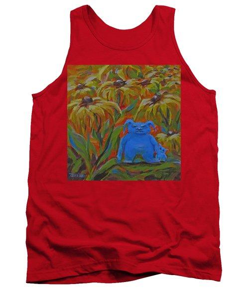 Tank Top featuring the painting Garden Secrets by Karen Ilari