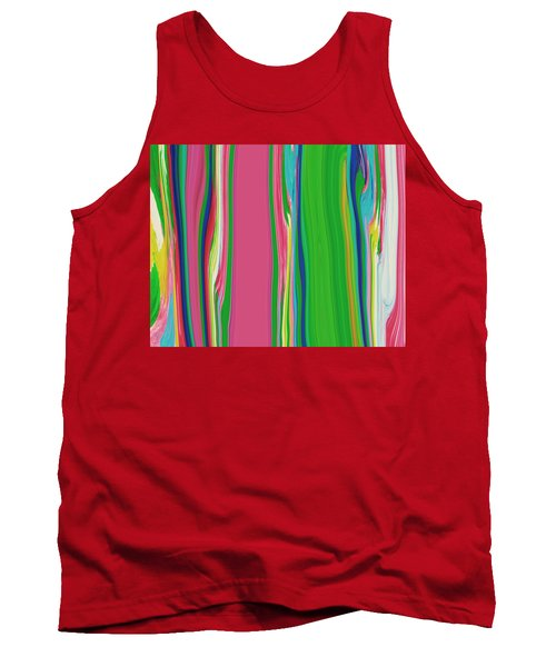 Tank Top featuring the painting Garden Stripes  C2014 by Paul Ashby