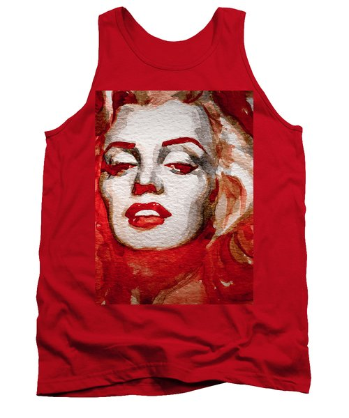 Tank Top featuring the painting Gentlemens Prefer Blondes by Laur Iduc
