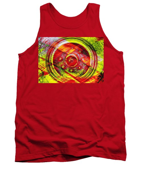Geometric Colors  Tank Top by Prakash Ghai