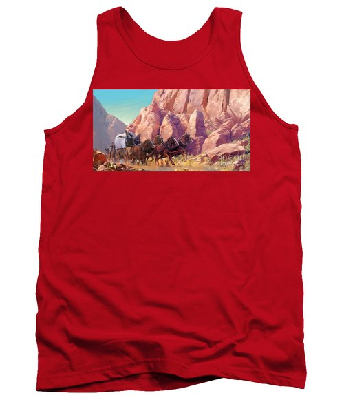 Tank Top featuring the painting Gett'en Through by Rob Corsetti