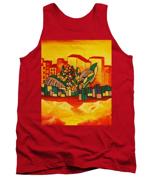 Tank Top featuring the painting Global Warning by Barbara St Jean