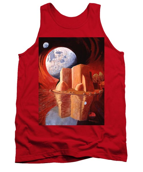 God Is In The Moon Tank Top by Art James West