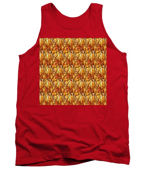 Tank Top featuring the photograph Gold Strand Sparkle Decorations by Navin Joshi